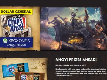 Dollar General Chips Ahoy Xbox Sweepstakes and Instant Win Game