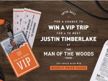 "Bai ""Justin Timberlake Concert Getaway"" Sweepstakes"