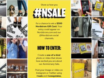 """Nordstrom """"Show Us How You #NSALE"""" Sweepstakes (Photo Upload)"""