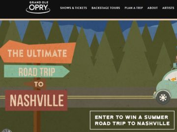 Grand Ole Opry Summer Road Trip Sweepstakes