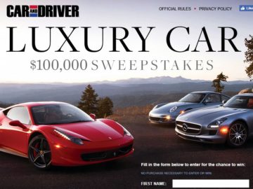 Car & Driver Dream Big Sweepstakes