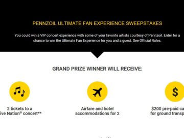 Pennzoil 2018 Ultimate PGS Fan Sweepstakes