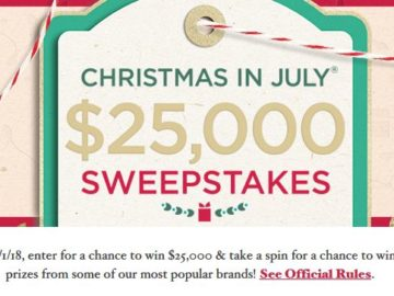 QVC Christmas in July Sweepstakes and Instant Win
