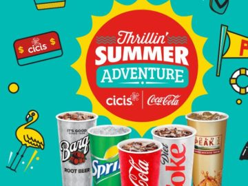 Cicis & Coca Cola Thrillin' Summer Adventure Sweepstakes and Instant Win