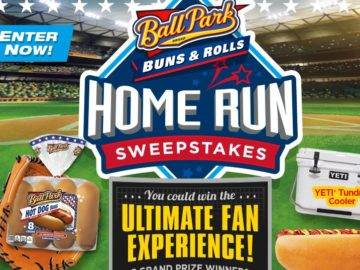 Ball Park Buns Home Run Sweepstakes