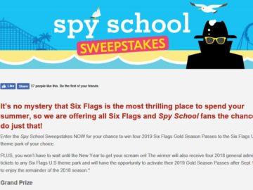 Six Flags Spy School Sweepstakes