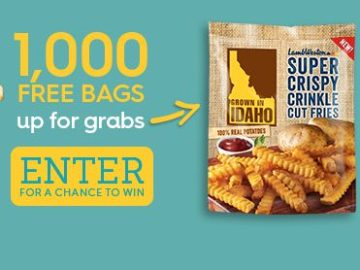 Grown in Idaho National French Fry Day Sweepstakes (Facebook)