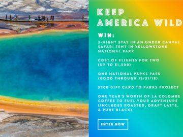 domino #KeepAmericaWild Yellowstone Sweepstakes