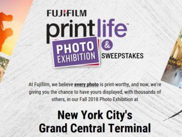 """FUJIFILM 2018 """"Print Life Photo Exhibition"""" Sweepstakes"""