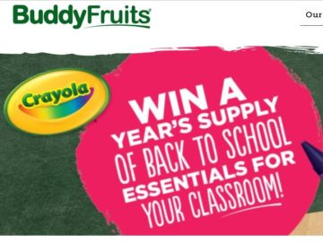 Buddy Fruits Crayola Essentials 2018 Back to School Sweepstakes
