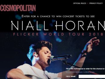 Cosmopolitan Flicker Tour Tickets Sweepstakes