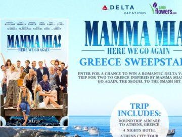 Delta Mamma Mia: Here We Go Again Sweepstakes