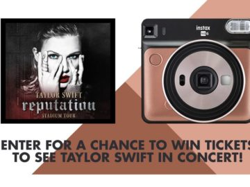 "FUJIFILM INSTAX 2018 ""Taylor Swift Concert Tickets"" Sweepstakes"
