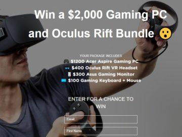 Gaming PC & Oculus Rift Sweepstakes