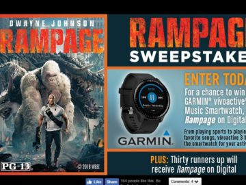 Warner Bros. Home Entertainment Rampage Sweepstakes (Facebook)