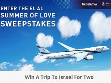 EL AL Israel Airlines Facebook Summer of Love Sweepstakes