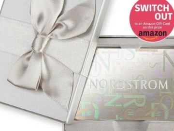 Win a $100 Nordstrom or Amazon Gift Card!