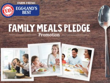"Eggland's Best ""Family Meals Pledge"" Sweepstakes and Instant Win"