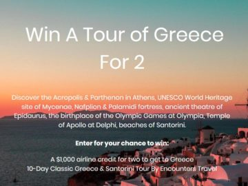 Dollar Flight Club Greece For 2 Sweepstakes