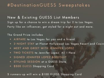 Destination Guess Desert Dreams Sweepstakes