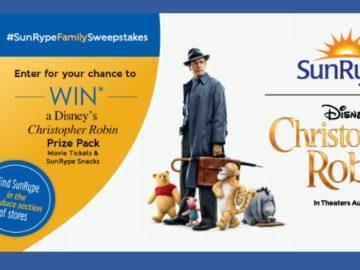 SunRype Disney's Christopher Robin Sweepstakes (Facebook)