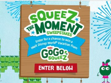 GoGo squeeZ – squeeZ the Moment Sweepstakes