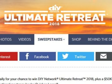 DIY Network Ultimate Retreat Sweepstakes