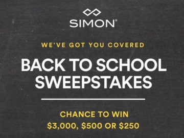 Simon Malls Back to School's Covered Sweepstakes
