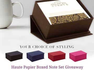 Haute Papier Boxed Note Set Giveaway