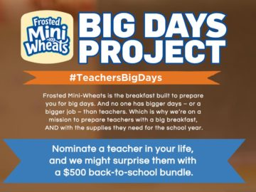 Frosted Mini Wheats Teachers Big Day Sweepstakes