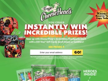 Frigo Cheese Heads Make Back to School Incredible Instant Win Game