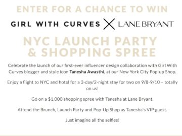 Lane Bryant Girl With Curves Sweepstakes