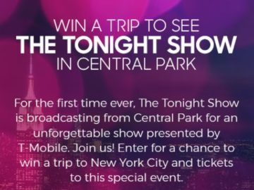 The Tonight Show with Jimmy Fallon From Central Park Sweepstakes