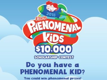 Ellio's Phenomenal Kids $10,000 Scholarship Contest (Limited States)