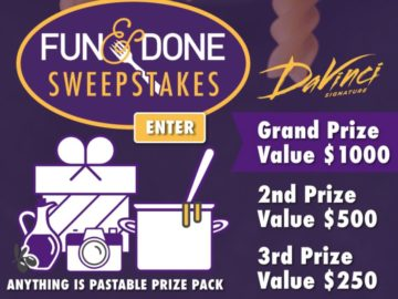 DaVinci Pasta Fun and Done Sweepstakes