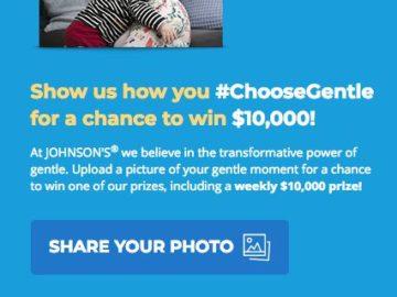 Johnson & Johnson Choose Gentle Photo Upload Sweepstakes and IWG