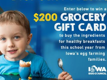 Iowa Egg Farmers $200 Grocery Gift Card Sweepstakes
