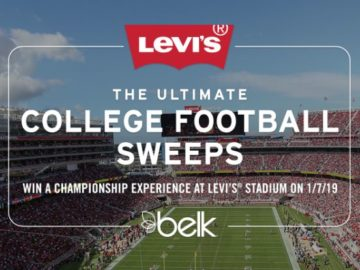 Levi's Stadium College Football Championship Sweepstakes