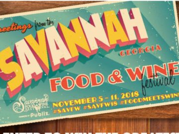 Savannah Food and Wine Festival Giveaway