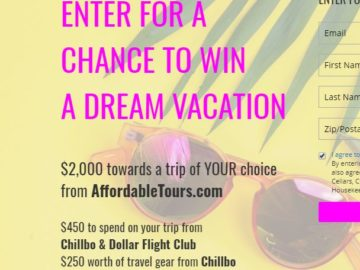 Bright Cellars Win Your Dream Vacation Sweepstakes