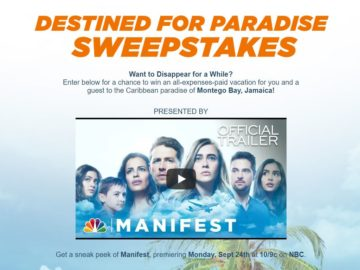NBC's Destined for Paradise Sweepstakes