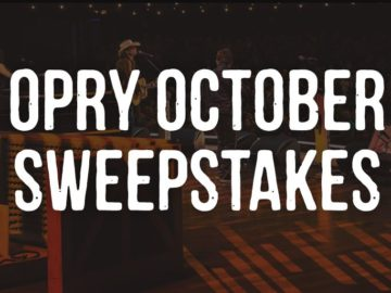 Opry October Sweepstakes