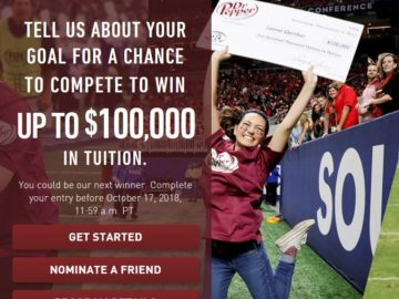 2018 Dr Pepper Tuition Giveaway & Contest (Limited Ages)