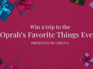 Oprah's Favorite Things Event Sweepstakes