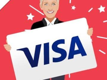 Ellen DeGeneres - Win a $300 Visa Gift Card!