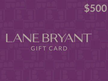 Win a $500 Lane Bryant Gift Card!