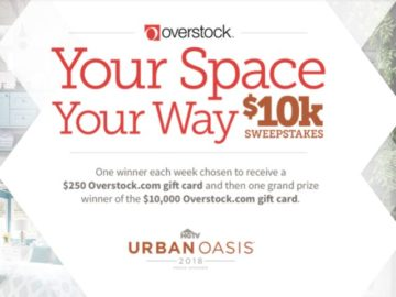 Overstock Your Space Your Way With $10K Sweepstakes