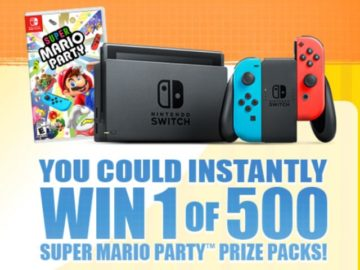 Lunchables presents the Mario Party Sweepstakes