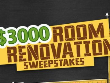 $3,000 Room Renovation Sweepstakes