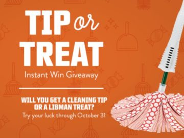 Libman 2018 Tip or Treat Instant Giveaway